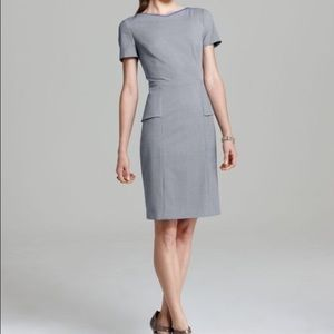 NWT Elie Tahari grey peplum pencil dress